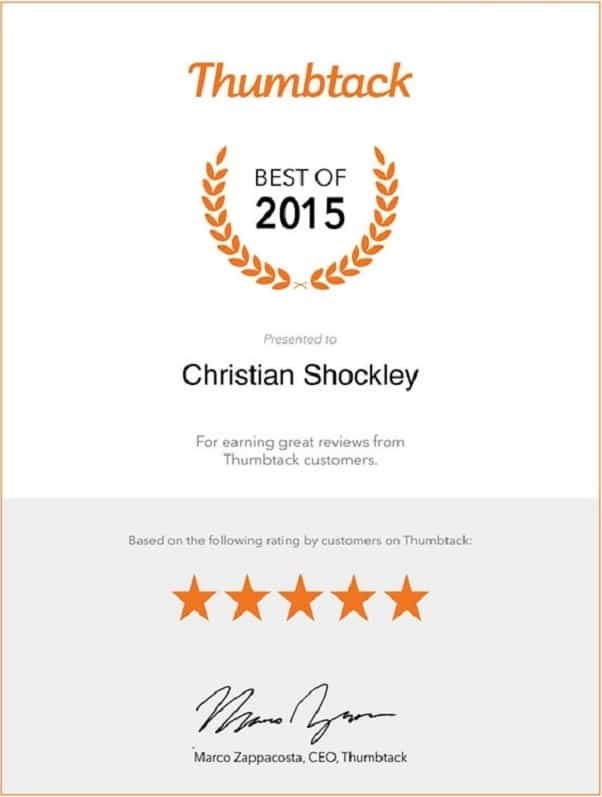 Outstanding customer service reviews for the best Marietta electrical contractor.